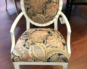 Set of 4 Upholstered & Armed Dining Chairs