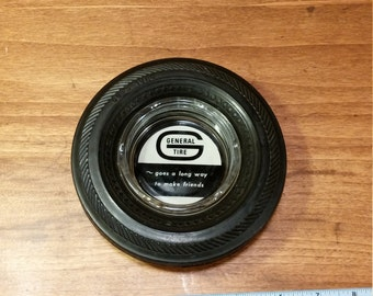 Vintage General Tire Advertising Rubber Tire Ashtray