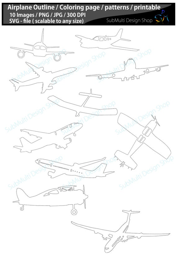 airplane cut out template - items similar to airplane craft patterns airplane