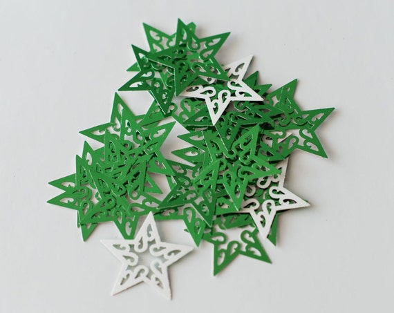 50 Green Christmas Stars Table Scatters Christmas
