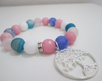 Tree of life stone bracelet, Natural stone bracelet, Jewelry, Womens bracelet, Womens bracelet, Gift, Gift for women, Gemstone bracelet