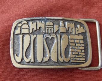 Vintage Brass Belt Buckle Made is Israel
