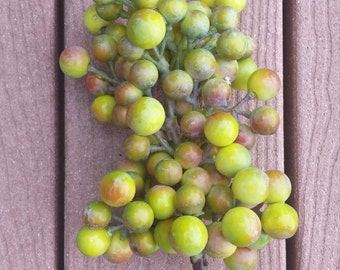 Grape cluster artificial grapes fake grapes Atificial fruit and vegetables for centerpieces grapes for kitchen wreaths artificial grape acce