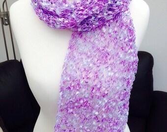 Handmade by Mrs Smith Pretty Lilac Scarf