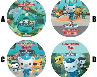 "Octonauts 7.5"" Edible Birthday Cake Topper Decoration Personalised"