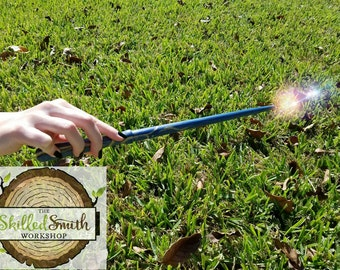 Wand/Wood wand/costume wand/Halloween wand/Harry Potter wand/LOTR wand/ Fairy Wand/magic wand/ Fairie/ hand turned wand/ Renfair