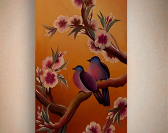 """Original handmade Acrylic painting on canvas - """"Beauty is All Around"""",  By Amit Yalin"""