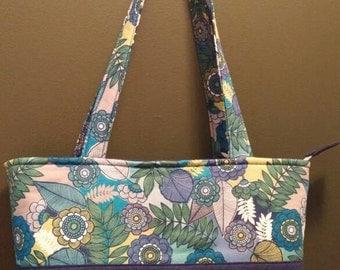 Blue Flower Garden, handbag, purse, women's purse, tote,women's accessories,handbags and purses,gift