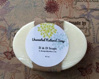 Unscented All Natural Moisturizing Goats Milk bar soap