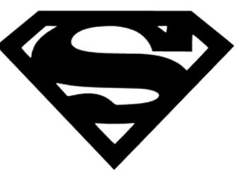 """Superman Vinyl Decal Automotive or Home 3.75"""" Wide x 2.5"""" tall"""