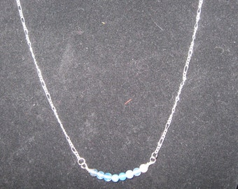 Delicate Bar of Agate Beads Necklace