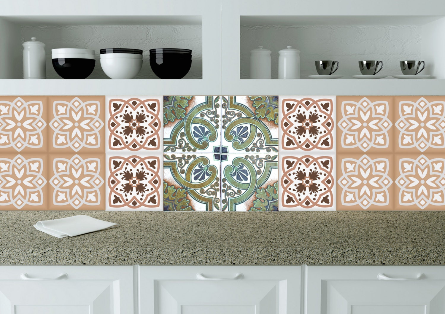 Orange Decals Tile Modern Tile Stickers Wall Decals Home Decor