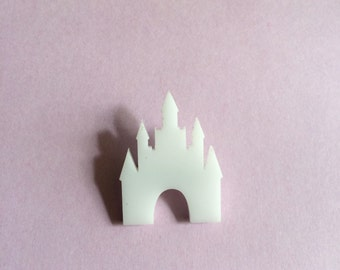 White Royal Castle Brooch // Pin