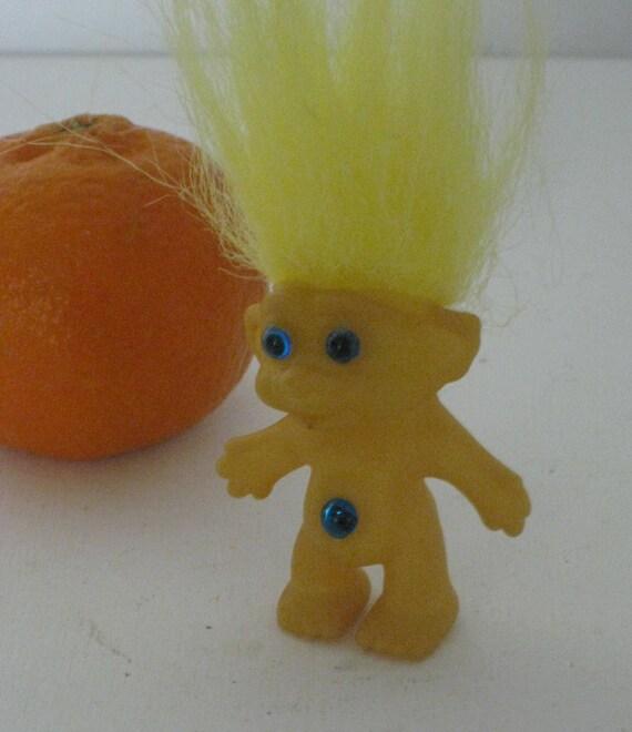 Troll Russ Doll Doll Yellow Hair Original Taiwan Rare Rare