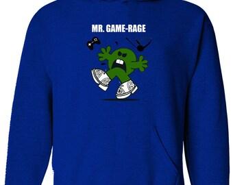 MR GAME RAGE - Gamers, gamepad mr men parody Mens Hoody, Hooded top- HM1484