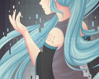 SALE Hatsune Miku Print