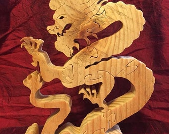 Wooden Imperial Dragon puzzle