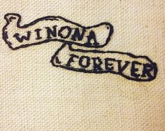 Winona Forever - Winona Ryder/Johnny Depp Embroidery