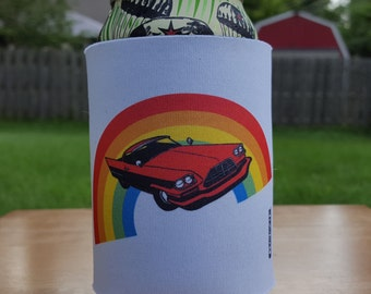 Cadillac Rainbow KOOZIE®, LGBT KOOZIE®, Rainbow Can Cooler, Unique Beverage holder, Beer can cooler, Custom can cooler, Gay pride gift