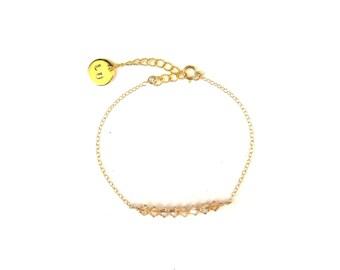 Bracelet Swarovski champagne