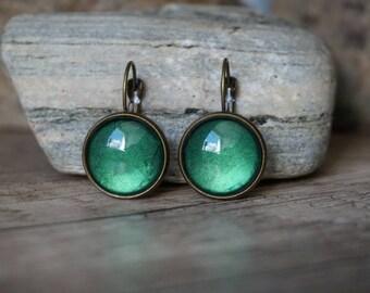 "Earrings ""Shining Green"""