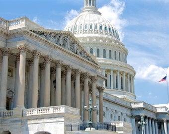 United States Capitol - Capitol Dome - Capitol Hill - Washington - DC - USA - Photo - Print