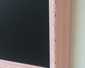 Vintage frame pink chalkboard