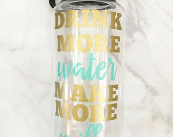 Drink More Water Make More Milk 34 ounce widemouth water bottle