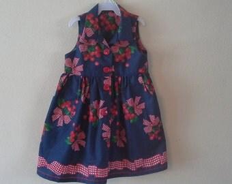 Bobkin pattern, Girls Dress, girls clothing, Size 4 years