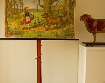 Vintage  Pull Down Chart  fairy tale Little Red Riding Hood  School Chart
