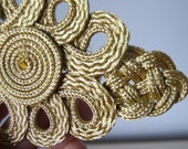 Super big metal thread gold fastening, bohemian curtain fastening