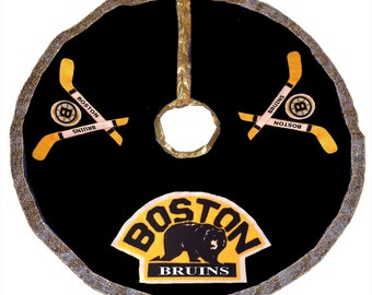 Boston Bruins Hockey Christmas Tree Skirt