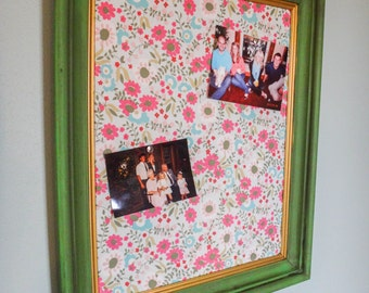 Shabby Chic Cork Board, vintage, picture frame, message board, wall decor