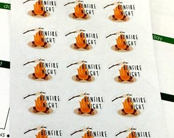 Bonfire Night Planner Stickers