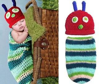 Newborn hungry caterpillar photo prop