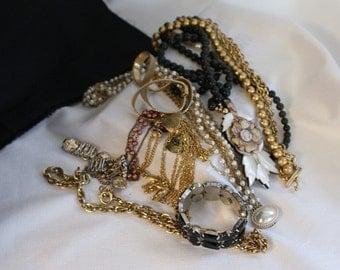 Bulk Costume Jewelry, Destash Beads, Pearls, Baubles, Salvaged Jewelry, Destash Jewelry, Recycle Jewelry, Jewelry Supply, Bulk Craft Supply