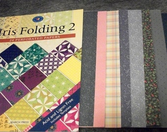 Iris Folding Papers Book 2 with Speciality Papers Included