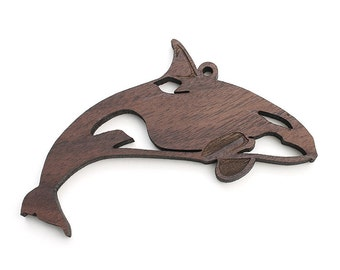 Orca Killer Whale Ornament from Nestled Pines Workshop in Lone Rock, WI
