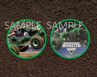 Grave Digger Monster Jam Cupcake Toppers