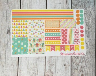 Easter Themed Planner Stickers- Made to fit Horizontal Layout