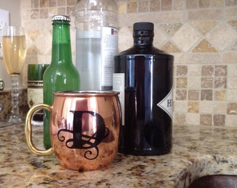 Monogrammed Moscow Mule Cup