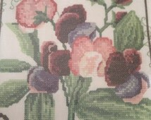 Sweet Peas by David Merry Portfolio,Heritage Stitchcraft, 27 Counted Cross Stitch Kit ,DMSW455 New Unopened.