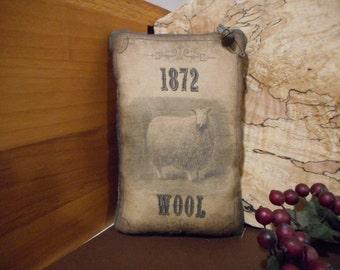 Pillow Tuck: Primitive Rustic Americana  Sheep Pillow Tuck.