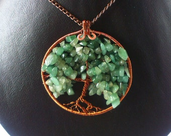Tree of life with pieces of natural stones