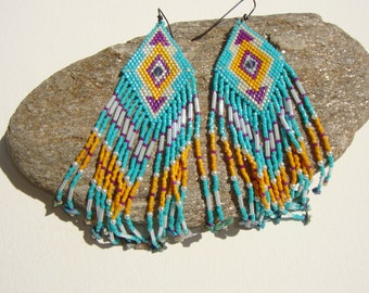 ameridiennes-earrings, navajo Indian, Bohemia, gipsy-style
