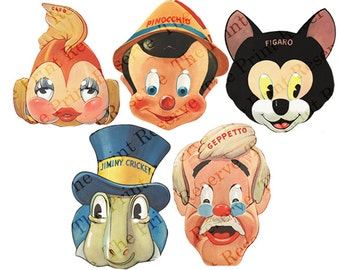 Printable Masks DIY Halloween Masks 5 JPG Instant Digital Download