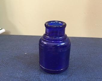 Antique Cobalt Blue Ink Bottle