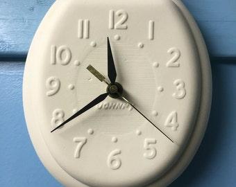 On SALE Paint It Yourself Clock For Bathroom Or Joke