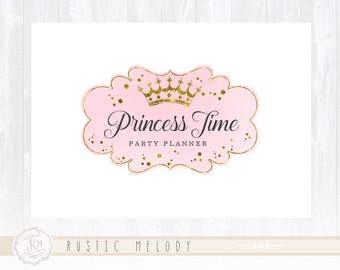 Party Logo Princess Logo Kids Logo  Watermark Photography Logo Boutique Logo Premade Logo