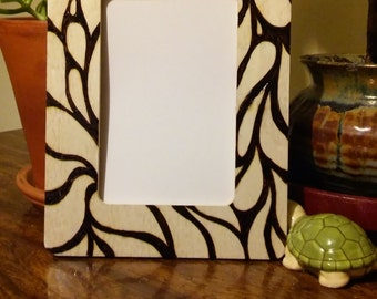 Pyrography Picture Frame 4x6